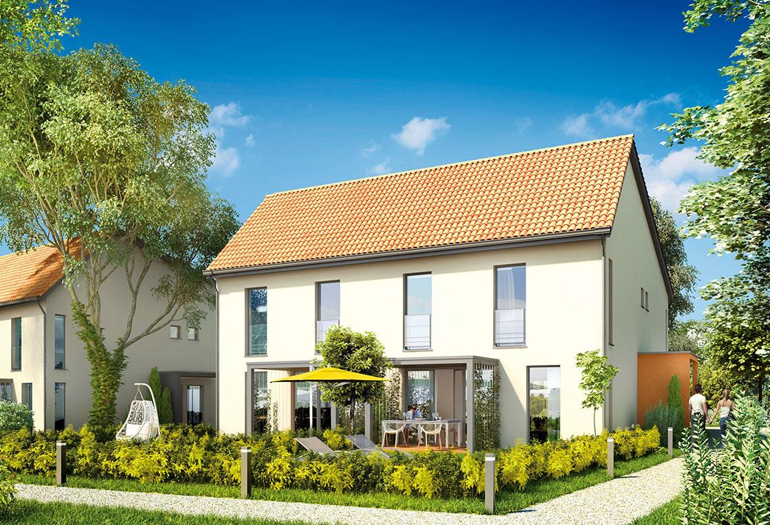 Fournisseur d 39 illustrations 3d pour l 39 immobilier toutela3d com for Maisons individuelles