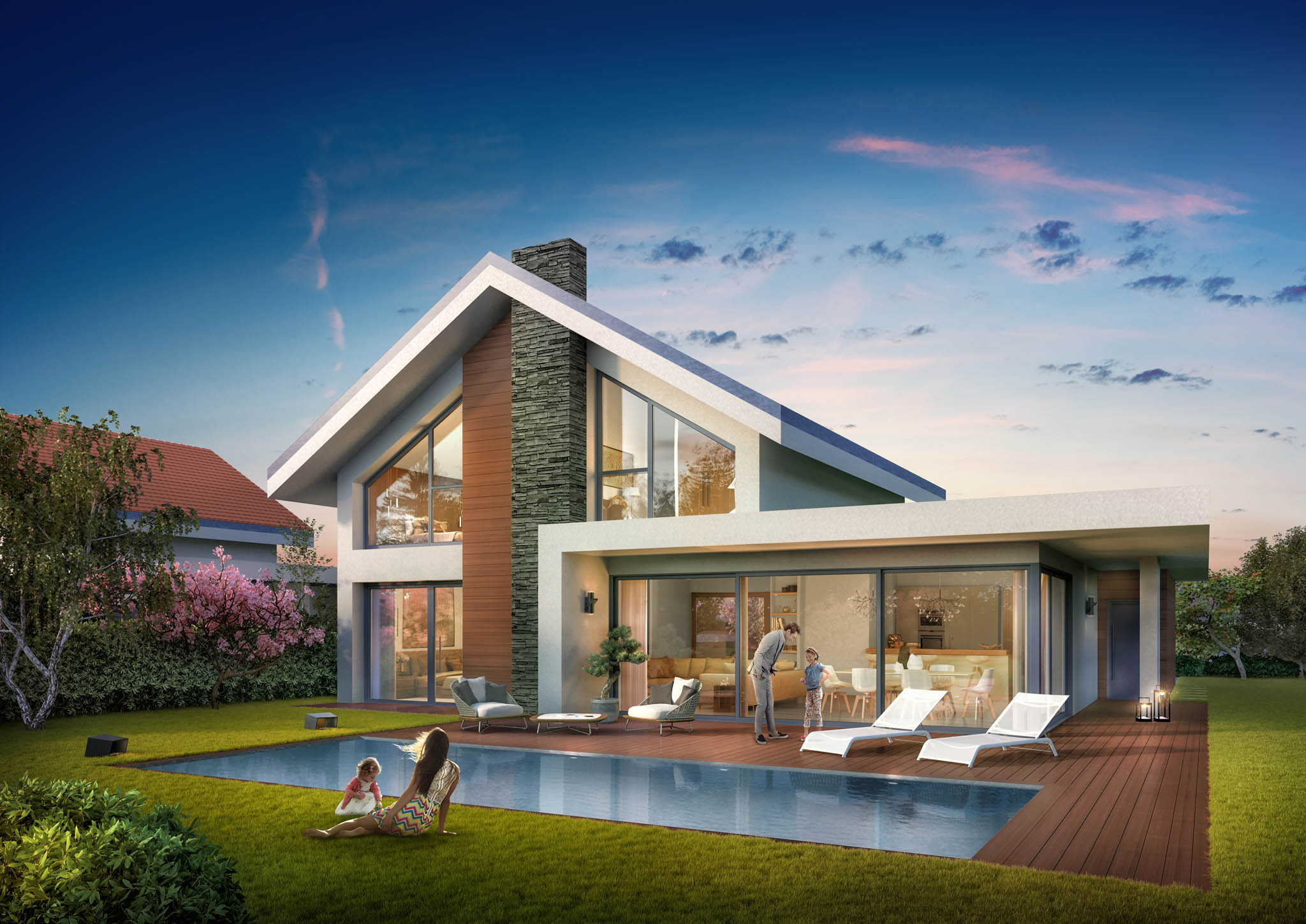 Perspectives 3d maisons individuelles toutela3d com for Promoteur maison individuelle