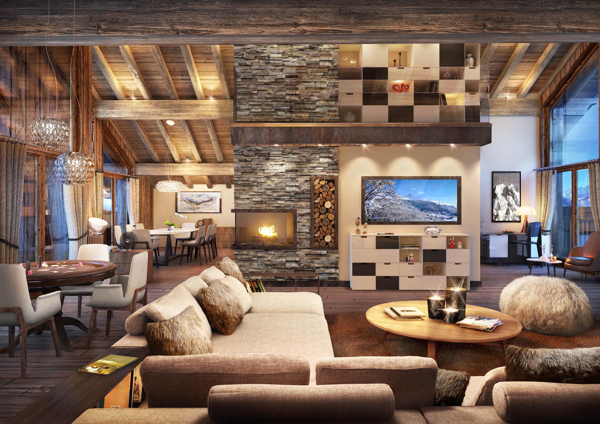 3d d appartements et de chalets la montagne toutela3d com. Black Bedroom Furniture Sets. Home Design Ideas